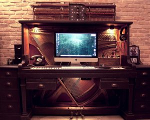 piano desk big