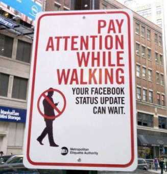attention-while-walking