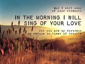 sing in morning